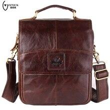 ZZNICK Genuine leather men bag men messenger bags small shoulder bags crossbody bag small men's leather handbag Hot sale #6903