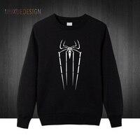 Winter Autumn style Spiderman Pullover Men Cotton Sweatshirts Men Hoodies Spiderman Cool Print Sweatshirt Men MX3515