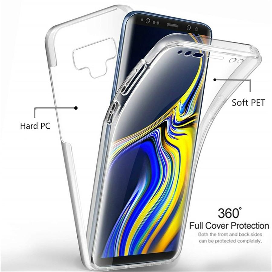 360 Full Case For Samsung M10 M20 A10 A30 A40 A40S A50 Cover TPU PET Silicone + PC Hard Cover For A5 A6 A7 A8 Plus J4 J6 2018 360 degrees