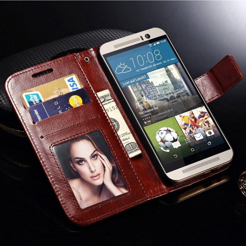 Tomkas Para HTC Uno M9 Caso Coque Teléfono Billetera de Cuero de Lujo caso para
