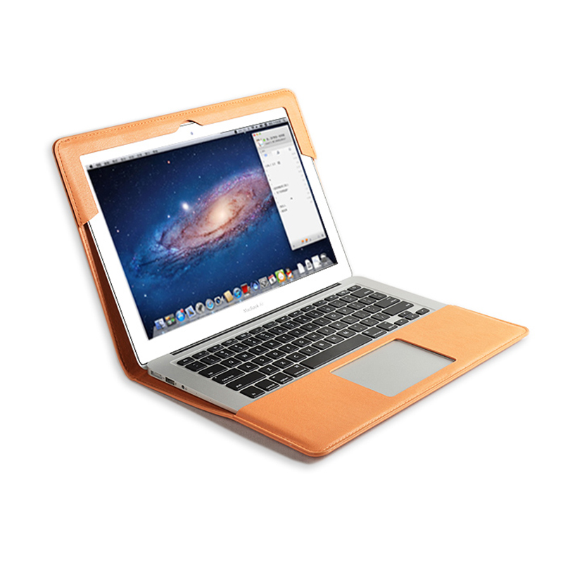 Support étui pour macbook Air nouveau Pro Retina 11.6 12 13 13.3 15 15.4 A1286 ordinateur portable en cuir synthétique polyuréthane manchon tablette PC housse de protection cadeau