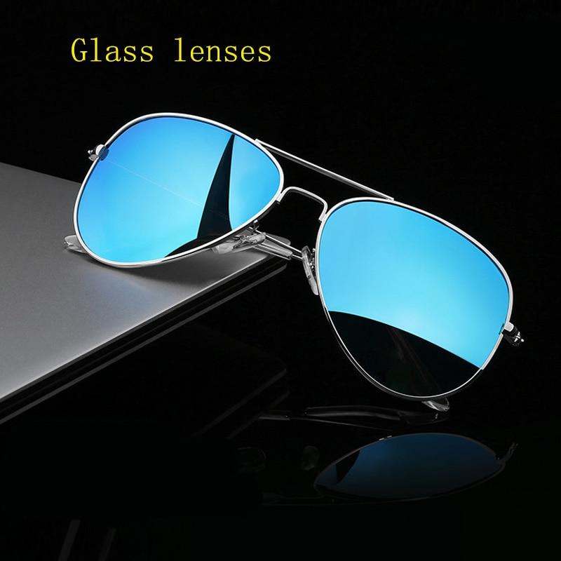 390dcf58a7281 Alta qualidade lente de vidro óculos de sol das mulheres da marca 2019  UV400 reggaeon Homens driving Pilot óculos de sol quentes 3025 raios Cor  marrom azul