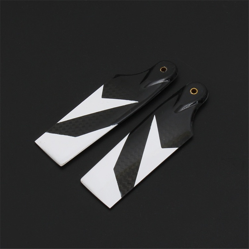 ALZRC Devil 505 Fast RC Helicopter Parts Carbon Fiber Tail Blade-80mm For RC Drone Accessories alzrc devil 380 fast carbon fiber body side plate 1 2mm d380f21 12