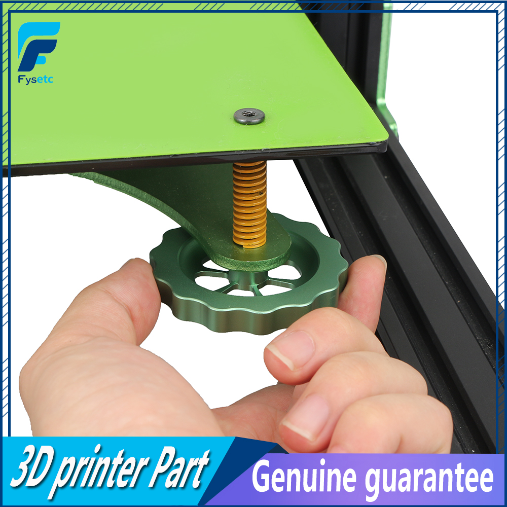 1pc <font><b>3D</b></font> Printer <font><b>Parts</b></font> Big Hand Twist Leveling Nut All Metal Green For <font><b>TEVO</b></font> <font><b>Tornado</b></font> Ultimate Leveling Knob Leveler M5 thread image