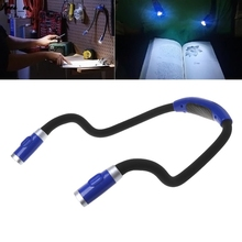 Rechargeable Neck LED Book Light Hands Free Flexible Arms Bed Reading Car Supply