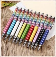 GENKKY 11 Colors Diamond Ballpoint Pen Crystal Rainbow Ball Point Pens Stationery Ballpen Office School Promotion Gift