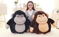100% new large 50cm cartoon fat orangutan plush toy soft throw pillow ,christmas gift b1445
