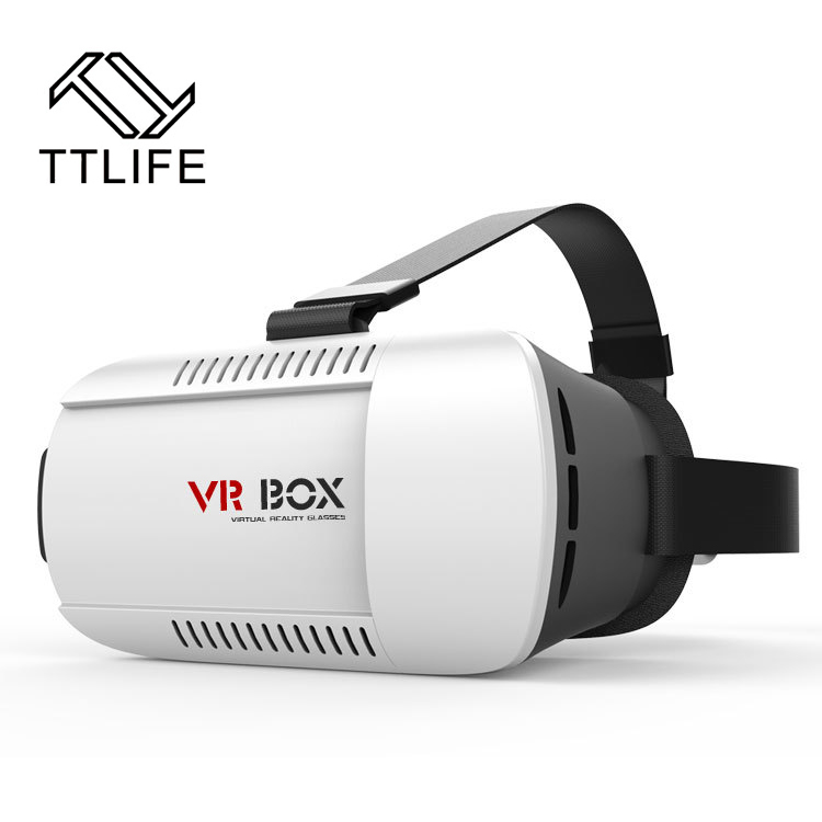TTLIFE <font><b>VR</b></font> BOX Helmet 3D <font><b>Virtual</b></font> <font><b>Reality</b></font> Headset 3D <font><b>VR</b></font> <font><b>Glasses</b></font> <font><b>for</b></font> <font><b>4</b></font> - 6 Inch Smartphone