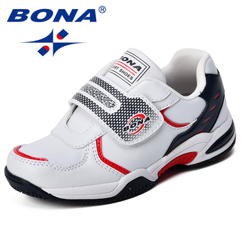 BONA New Fashion Style Kids Sport  Shoes Popular Synthetic Girls Sneakers Shoes Hook & Loop Children Casual Shoes Comfortable недорого