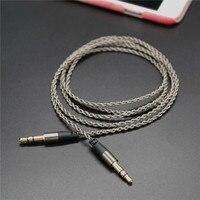 Original 2 Pcs Sliver Plated Jack 3.5 mm Aux Audio Cord Car Amplifier Aux Cable for Music Player Phone Headphone Laptop
