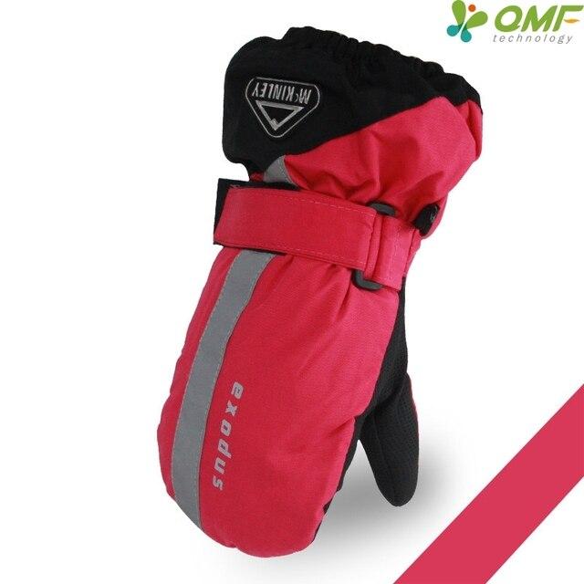 d6c9fa6c5f5 Rouge Enfants Snowboard Ski Mitaines Garçons Hiver Coupe-Vent Thermique  Moto Vélo Gants Filles Imperméable