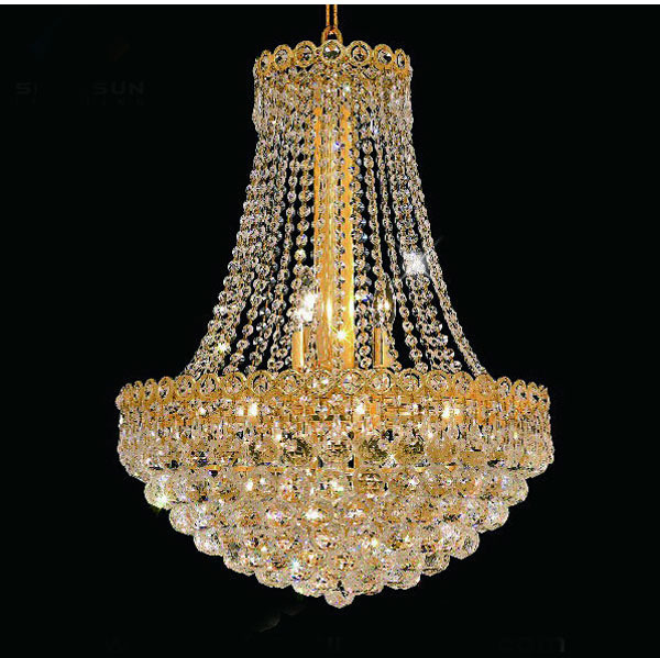 Phube Lighting French Empire Gold Crystal Chandelier Chrome Chandeliers  Lighting Modern Chandeliers Light+Free Shipping