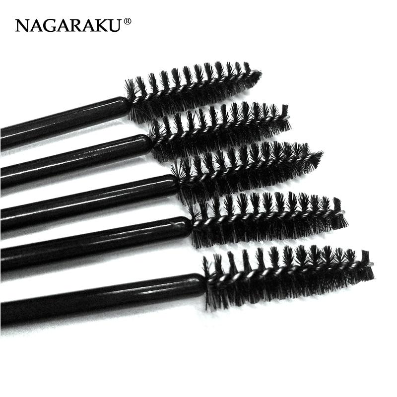 NAGARAKU 100pcs/bag black Mascara Eyelash Make Up Brush ,Disposable Mascara Wand ,Mascara wand brushes
