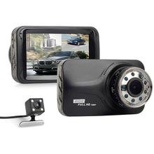 Wholesale prices 3inch Full HD 1080P Car DVR CCTV Dash Double Camera G-sensor WDR Recorder Futural Digital JULL17