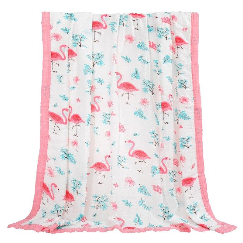 2 Layer Bamboo Cotton Blanket Newborn Swaddle Bedding Sheet 70% Bamboo 30% Cotton Swaddle Child Dream Blanket 120X120cm