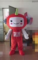 Latest high quality Good visual top sale lovely big head costume adult red big head mascot costume Holiday special clothing