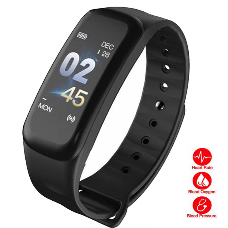 KESHUYOU C1S bluetooth fitness tracker watch heart rate monitor sleep tracker Passometer smart band blood pressure ios android