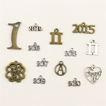 Fashion Jewelry Making Number Alphabet 2017 2018 2019 2020 Findings Components Mix Pendant