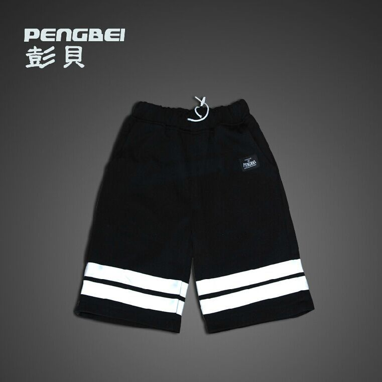 3M Reflective Hip Hop Short Pants South Korean Running Men Brand Jogger Shorts Mens Autumn Muay Thai Night Run Gym Casual Shorts