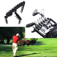 Black Golf 9 Iron Club Holder Fit For Any Size Of Golf Bags Golf Training Aids