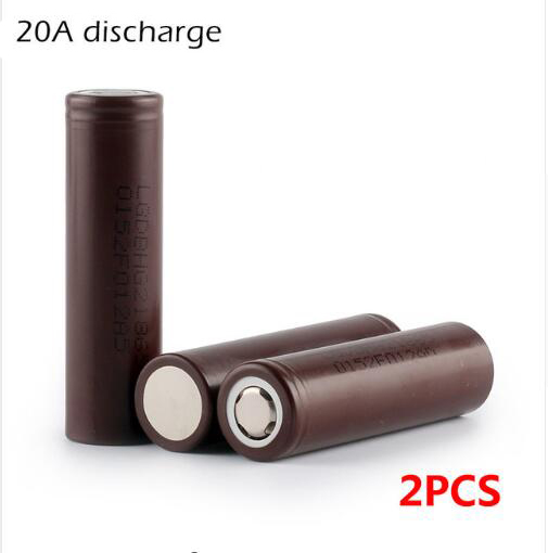 2PCS HG2 3000mAh 18650 battery 18650HG2 3 6V discharge 20A dedicated electronic cigarette Power lithium battery