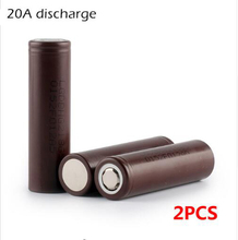 2PCS New HG2 18650 3000mAh battery 18650HG2 3.6V discharge 20A dedicated electronic cigarette Power battery free shipping