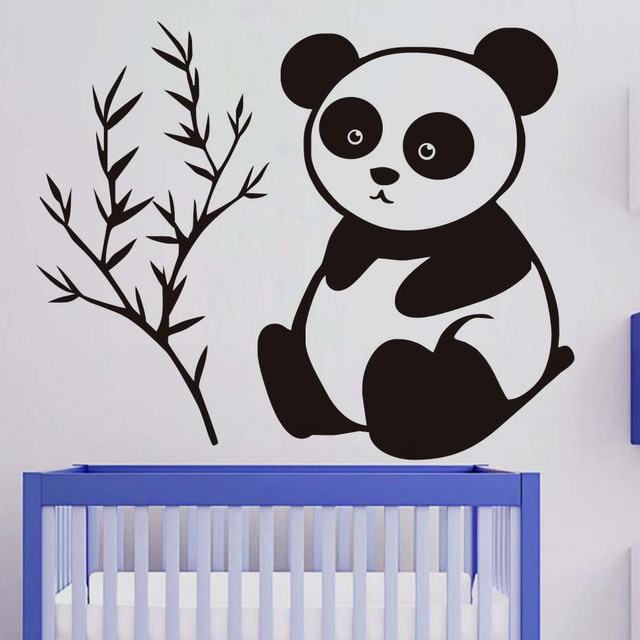 It Only Eats Bamboo Baby Panda Wall Stickers Removable Vinyl Decals For Kids Rooms Lovely Wall  sc 1 st  AliExpress.com & It Only Eats Bamboo Baby Panda Wall Stickers Removable Vinyl Decals ...