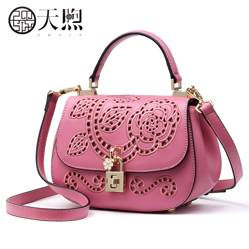 ФОТО Pmsix2017 spring and summer Chinese embroidery hollow single shoulder mini bag Messenger bag handbags P120127