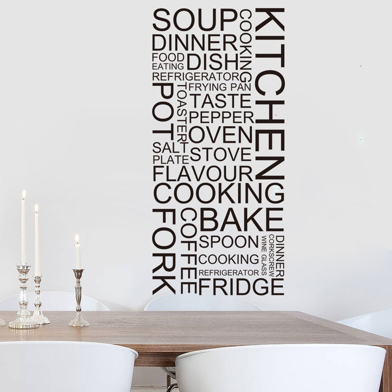 Bon Appetit Wall Decal Home Decor Kitchen Sticker Dining Room Vinyl Art Blackxs