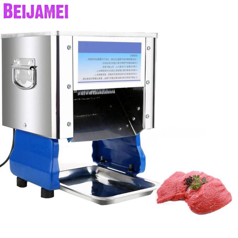 Beijamei Electric Meat Shredding Machine, Table Type Meat Slice Cutting Machine, Commercial Meat Grinder Slicer