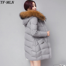 Women's Jacket Winter 2017 New Long Cotton Parka Plus Size Coat Slim Ladies Casual Clothing Hot Sale Hooded Student Jackets