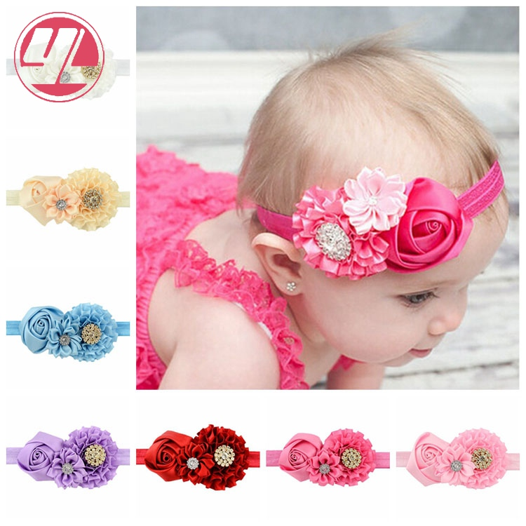 Lots 8PCS Kids Girl Baby Headband Toddler Lace Bow Flower Hair Band Accessories