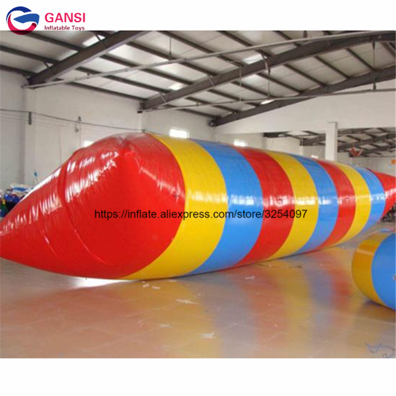 Customized inflatable water blob jump , inflatable water catapult , Inflatable water trampoline for seashore use funny summer inflatable water games inflatable bounce water slide with stairs and blowers