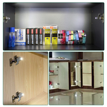 Foxanon LED Cabinet Inner Hinge Led Sensor Light Closet Wardrobe Lamp Nightlights Cupboard Bulb Kitchen Lighting lampada led