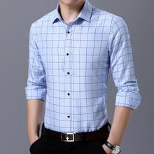Men Shirt Mens 2019 new  plaid shirt Business Casual Shirts Famous fashion Clothing Plaid Long Sleeve Camisa Masculina