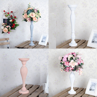 New wedding props imitation wood table flower vase road flower decorative flower shop window display white shooting ornament