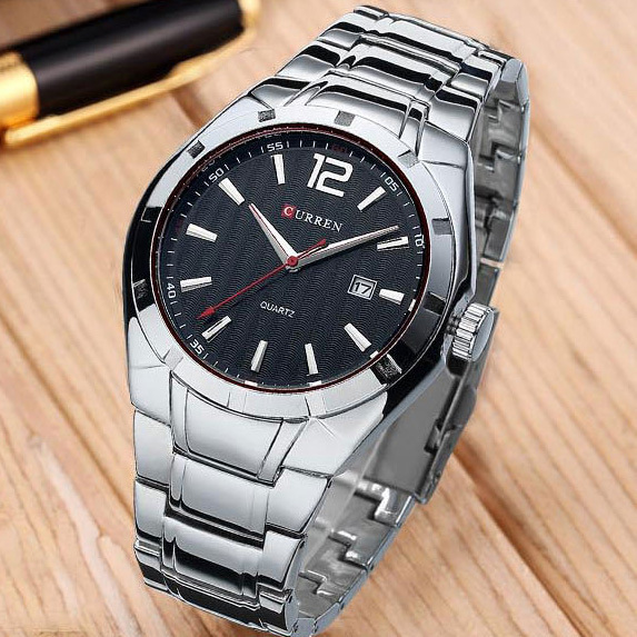 2016 Hot New Design Curren Fashion Men Sports Watches Men Full Steel Quartz Analog Military Style Watch Relogio Masculino