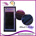 Free shipping 5 trays/lot Highest quality  0.15mm individual  Black-color  two tone color eyelash extension