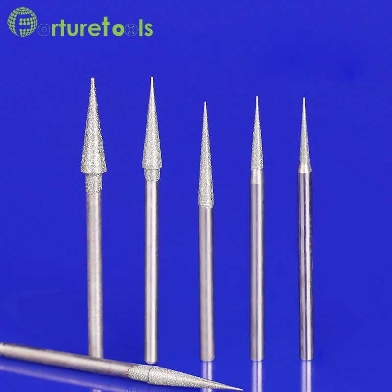 50 stks diamant gemonteerde punt slijpkop dremel roterende tool voor - Schurende gereedschappen - Foto 1