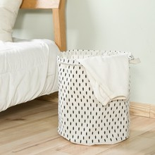 Home laundry basket folded cotton waterproof storage toy instoragebarrels bathroom box 35*44cm
