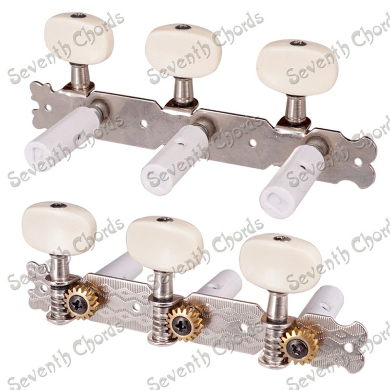 A Set 3R3L Nickel String Tuners Tuning Peg Machine Heads for Classical Guitar