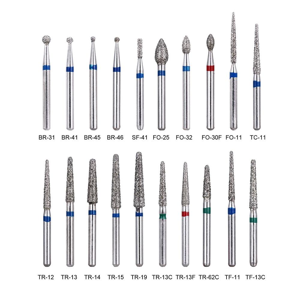 200pcs/40Boxes Dental Diamond Burs Drill Dental Burs Dia-burs for High Speed Handpiece Medium FG 1.6