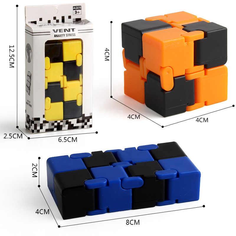 Оригинальная коробка бесконечный куб игрушки палец магический куб блоки сложить для избавления от стресса и тревожности куб обучающий игрушки для детей и взрослых