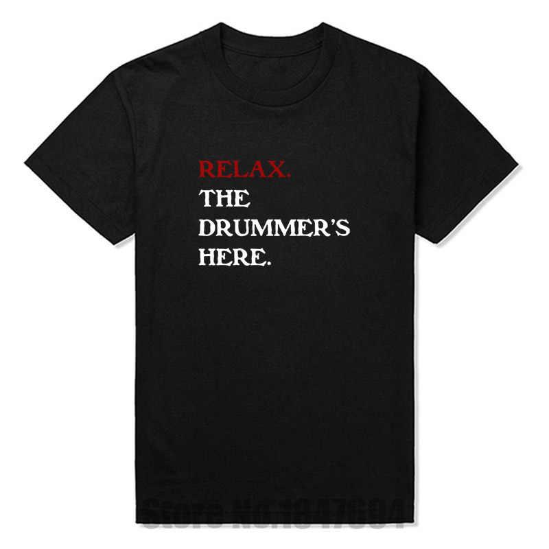 Новые модные футболки расслабляющие футболки барабанщика, хлопковые футболки с короткими рукавами, Забавные футболки в винтажном стиле с эмо-эмо
