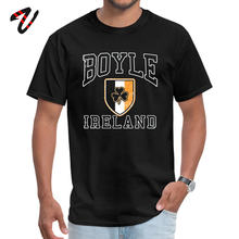 cosie Boyle Ireland with Shamrock Printed Sauron Sleeve Summer Fall Tees Funny Mcgregor Conor T Shirts Men's T-shirts(China)