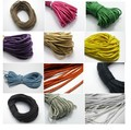 50 Meters Twisted Waxed Cotton Cord String Strap Thread 3mm twisted cord for craft decorative rope bead roll hand tablet DIY