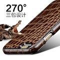 Oatsbasf Крокодил Шаблон Из Натуральной кожи Телефон Case Для Iphone Apple 66 S 6 Плюс 6 sPlus 270 градусов Защитные Case для Iphone 7