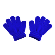 Cute winter baby gloves mittens children full finger gloves keep warm solid colors for sport cycling fishing snowboard running