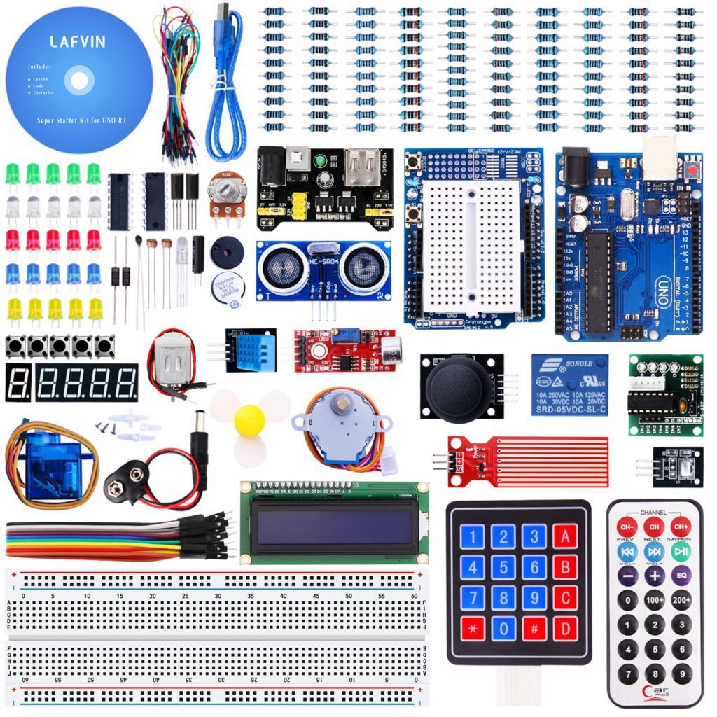 Super Starter Kit for Arduino UNO ,MEGA 2560 with Tutorial adeept diy electric new project lcd1602 starter kit for arduino uno r3 mega 2560 pdf free shipping book headphones diy diykit