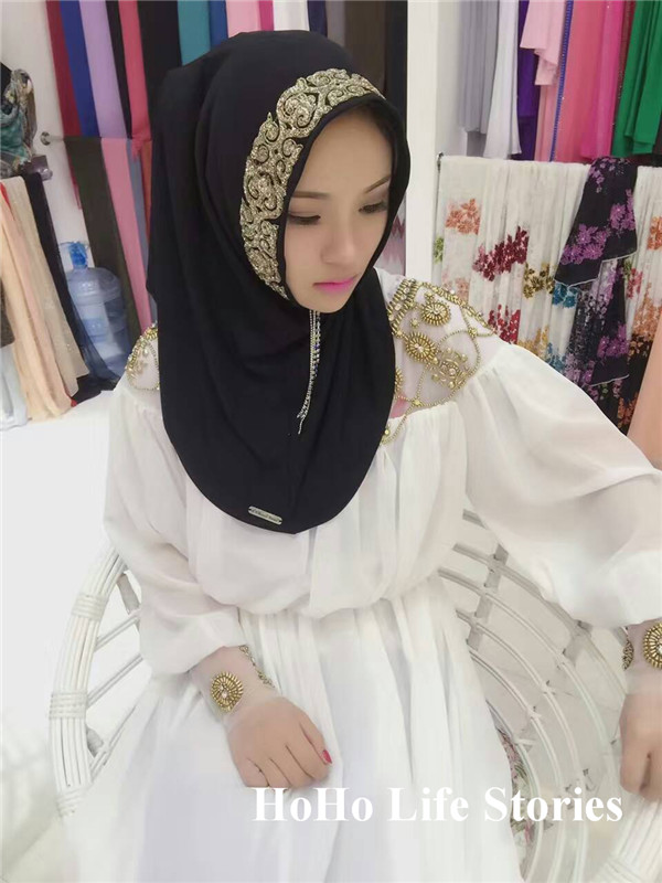 TJ54 New elegant beautiful Muslim hijabs fashion muslim scarf high quality women ladies scarves(no underscarf)